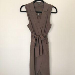 Olive Green midi dress.